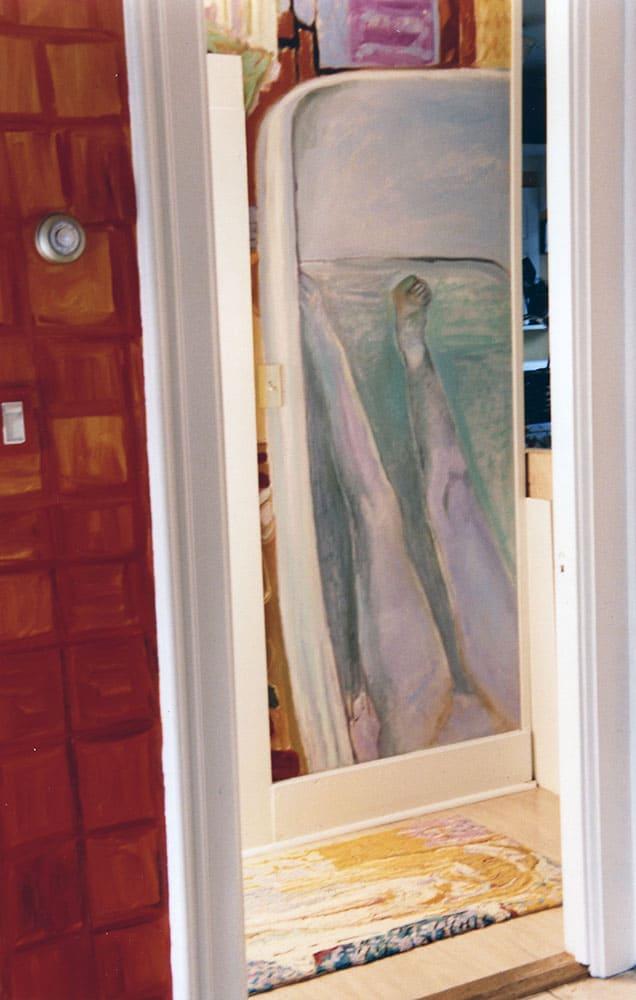 The half-length nude in the bathroom