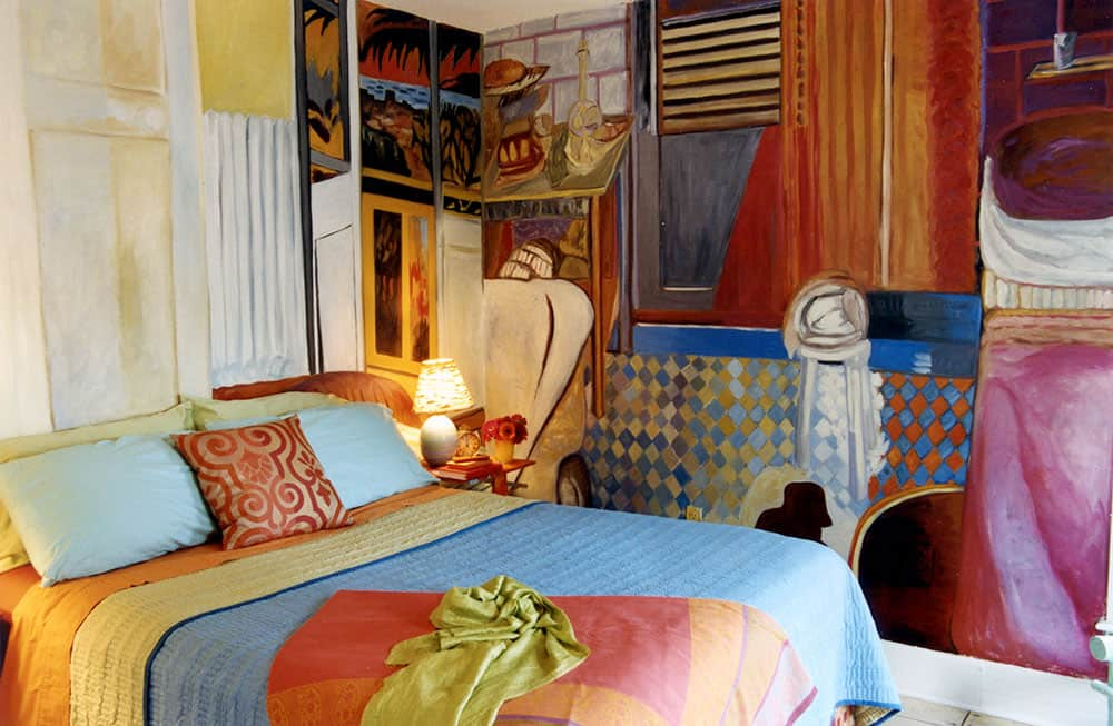 "Parke's ""Bonnardified"" bedroom"
