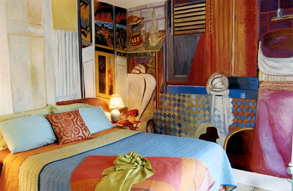 "Parke's ""Bonnardified"" bedroom"