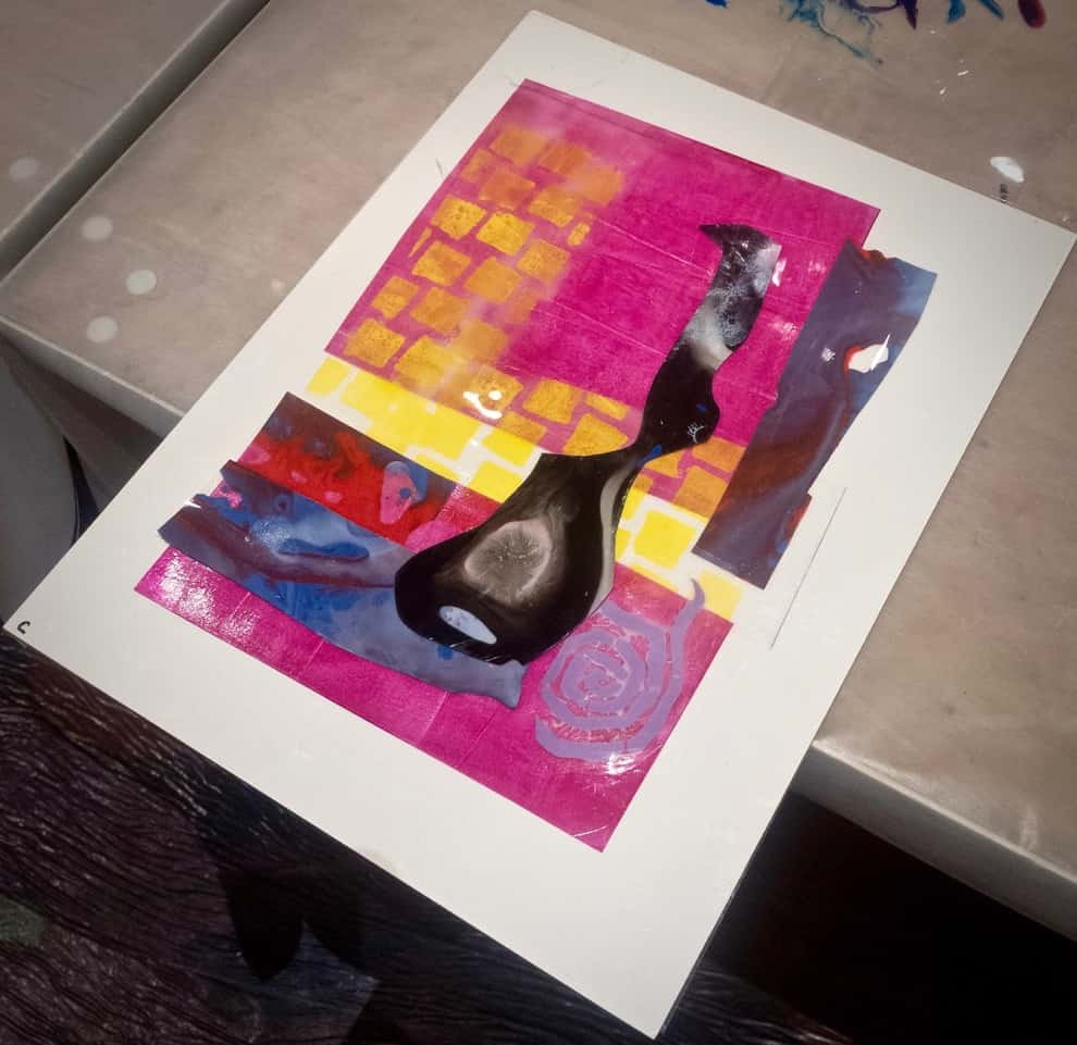 Ann Landi's first Dura-Lar collage