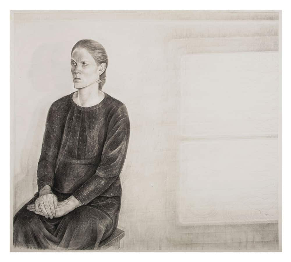 In the Heart of the Country (1997-2016), pencil, powdered graphite, conte crayon, 37-7/8 by 43 inches.
