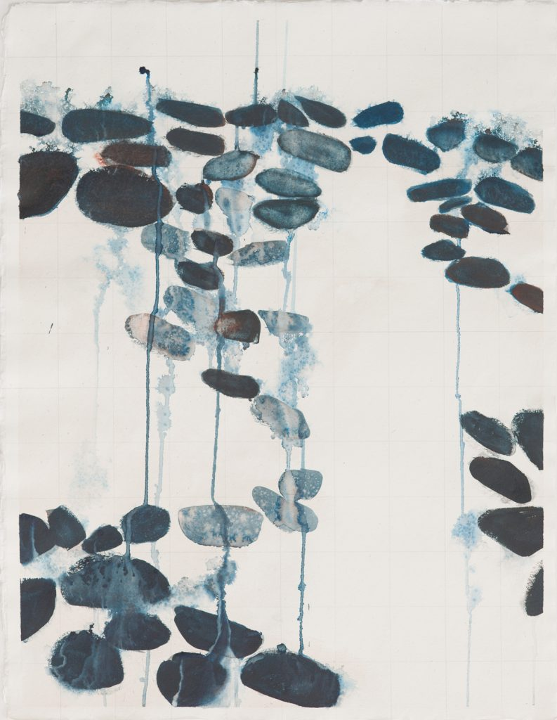 Dudley Zopp, Entre Dos Aguas #6 (2012) watercolor and pencil on Arpa handmade paper, 26 by 20 inches