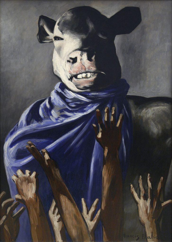 L'Adoration du veau (The Adoration of the Calf). 1941–42. Oil on board, 41 3/4 × 30″