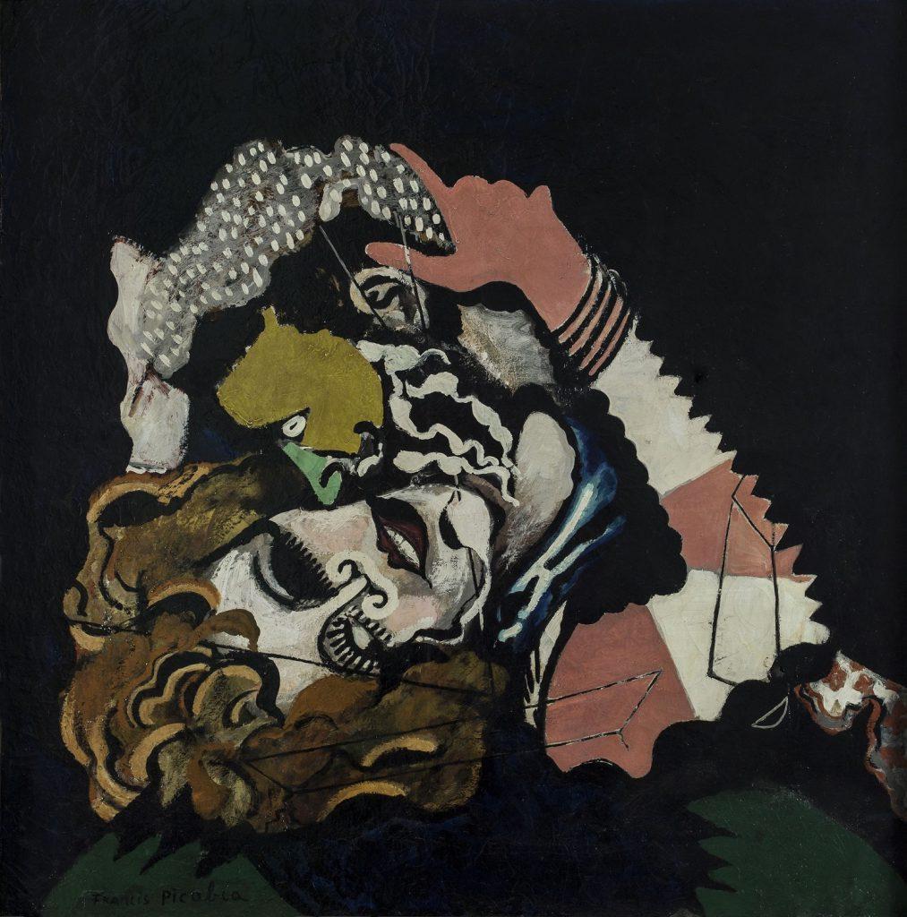 Les Amoureux (Après la pluie) (The Lovers [After the Rain]). 1925. Enamel paint and oil on canvas, 45 11/16 x 45 1/4 inches