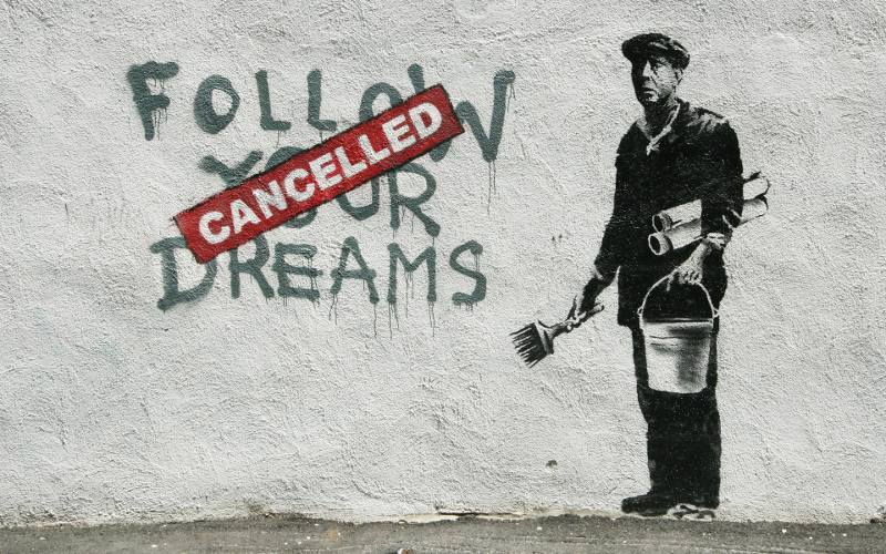 Banksy, Follow Your Dreams--Cancelled, 2010