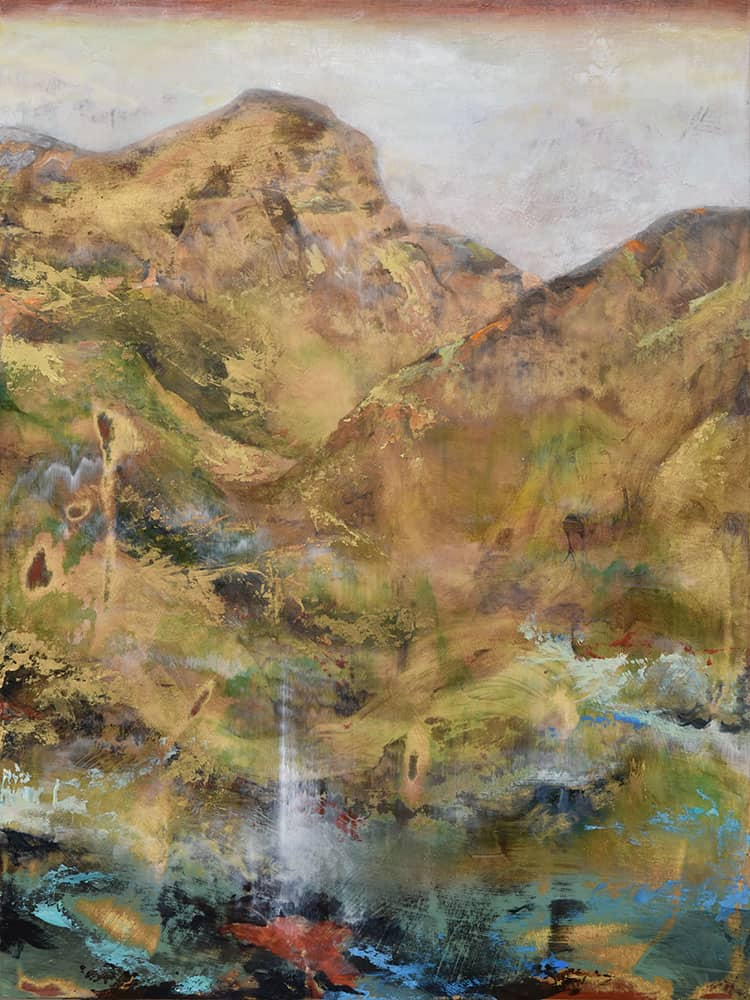 Nancy Reyner, Dreaming Mountain (2016), acrylic on canvas, 26 by 32 inches