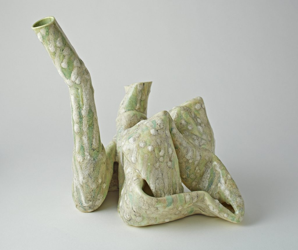 Twisted 9 (2015), glazed ceramic, 10 by 9 by 9.5 inches