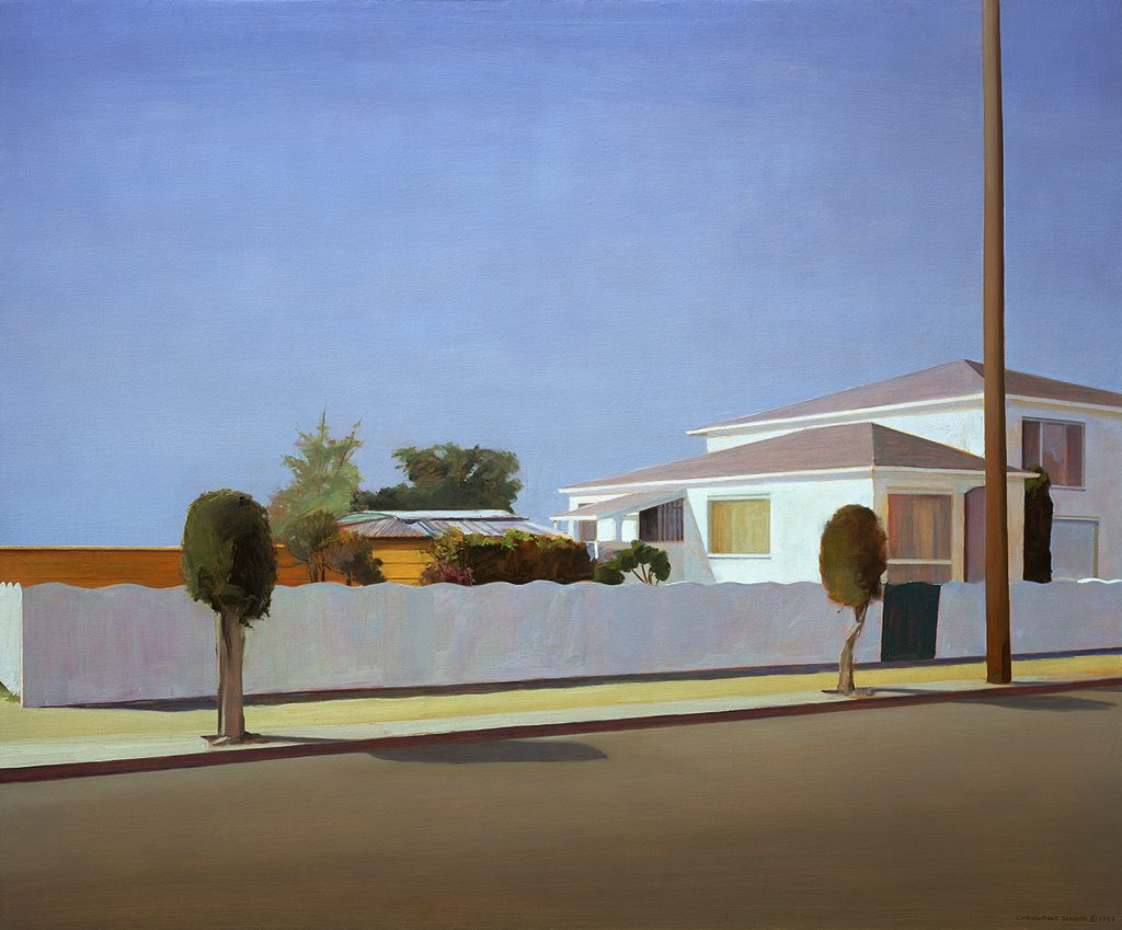 Long Fence (2000), oil on linen, 54 by 68 inches