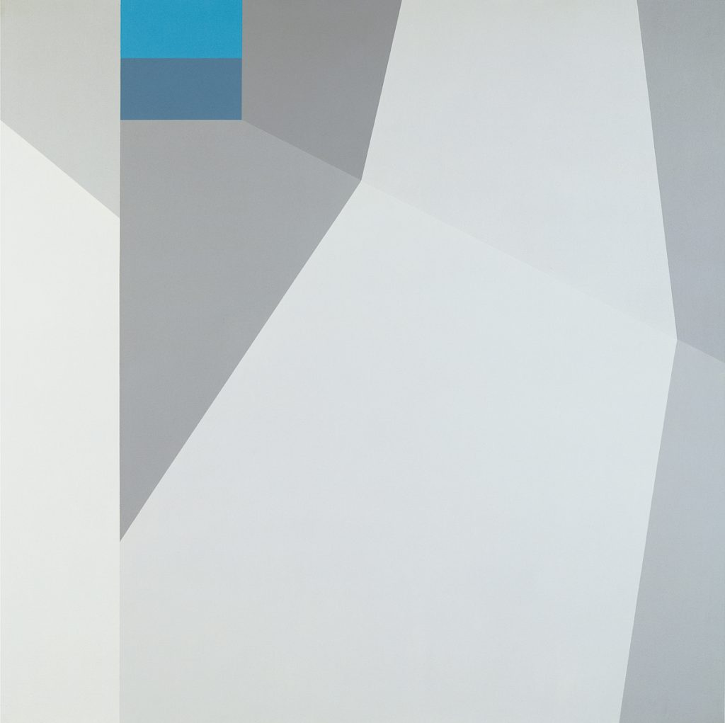 Blue View (1974), acrylic on canvas, 60 by 60 inches
