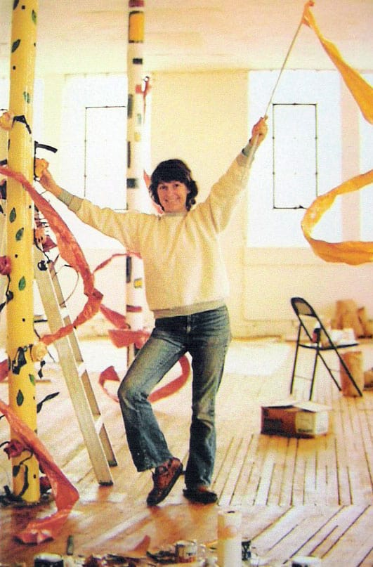 Ree Morton in her studio, 1974