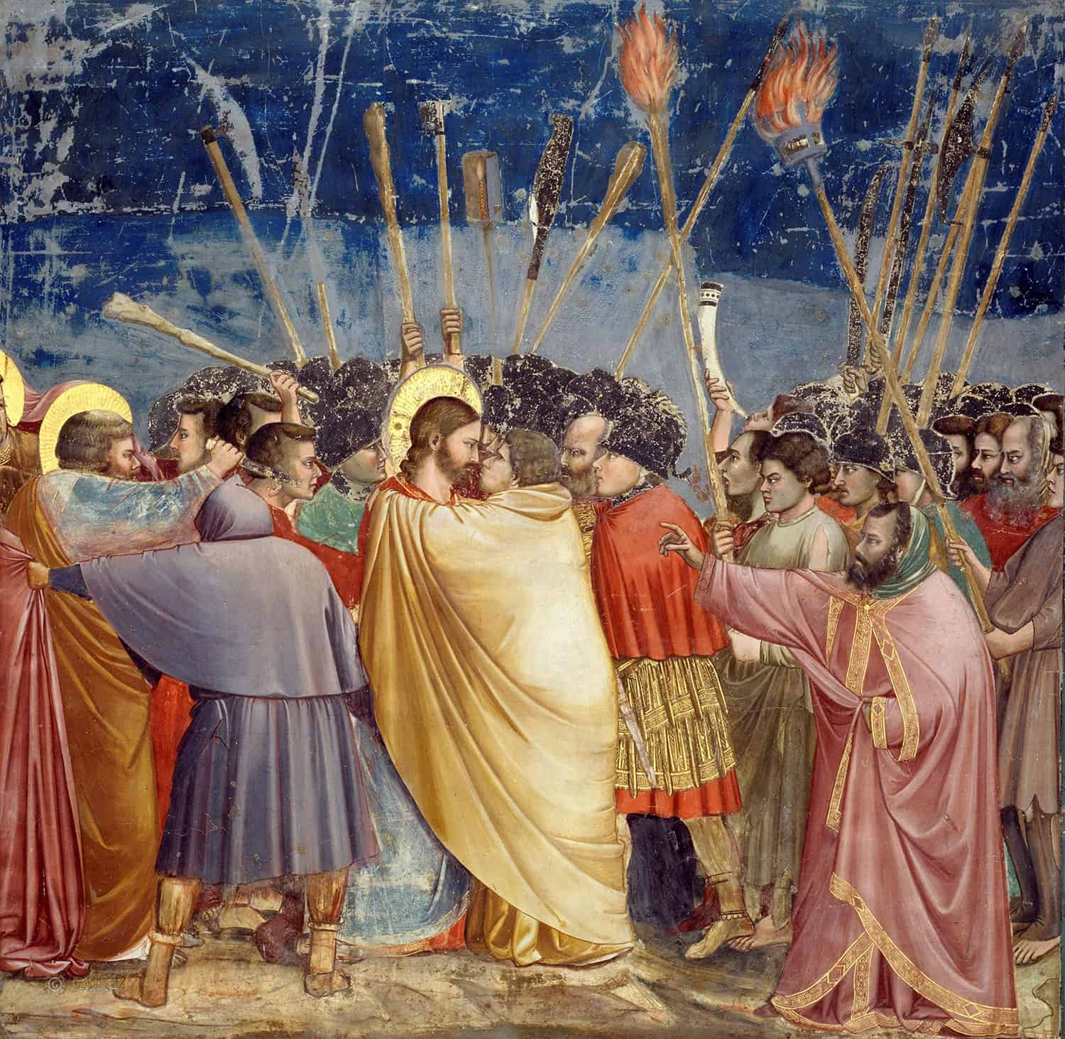 Giotto's Kiss of Judas from the Scrovegni Chapel