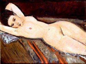 A Modigliani reclining nude