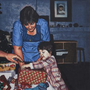 Christmas Presents (2013), oil on panel, 10 by 10 inches
