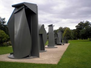 Anthony Caro's Promenade in Yorkshire Sculpture Park, England