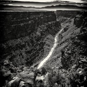 Rio Grande Gorge (2014), digital archival print, 16 by 16 inches
