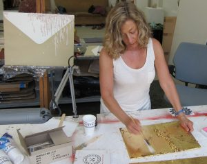Arlene Rush in her studio