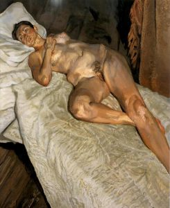 "A Lucian Freud ""Naked Portrait"" from 2004"