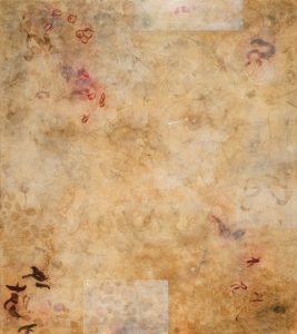 """Dissected Desire (from the """"Lumens"""" series, 1999), encaustic on panel, 78 by 69 inches"""