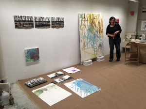 Kylie Heidenheimer during open studios at the Clemente in New York