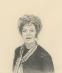 A pencil portrait of the artist's mother, 1978