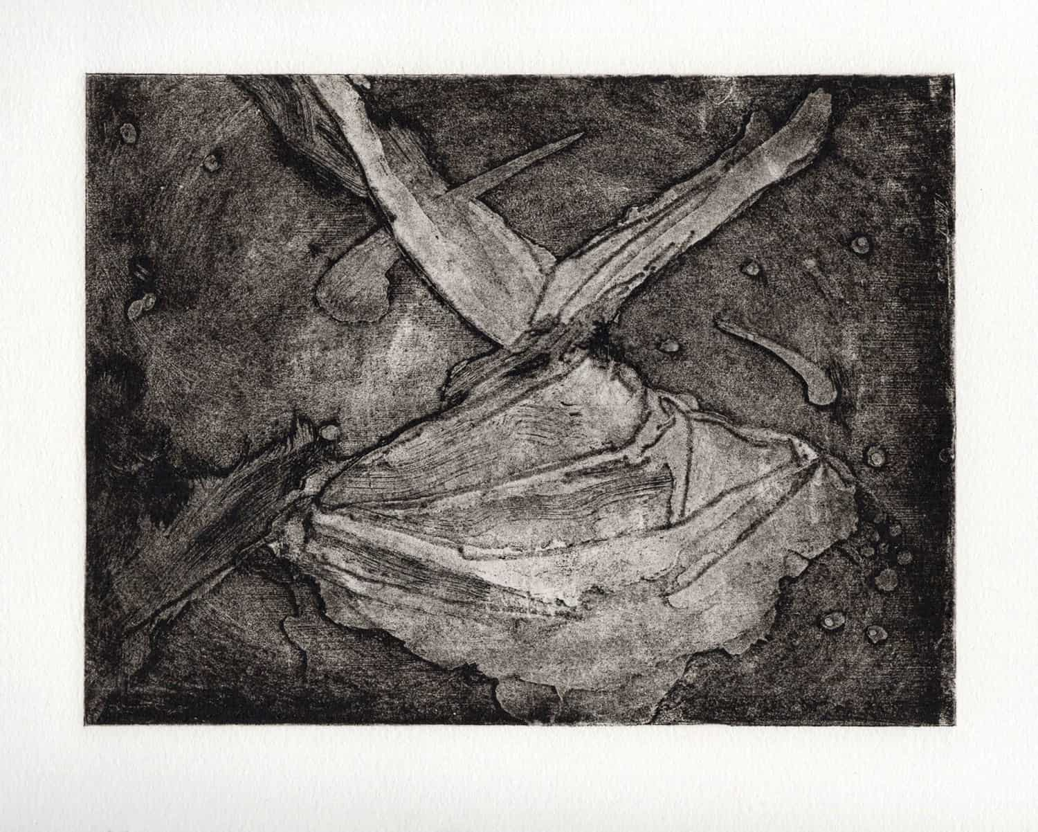 One of the carborundum prints Claudine Metrick was able to realize through a Kickstarter campaign