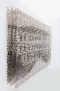 Bayreuth I (2017), layered laser-cut pigment prints, 14 by 21 inches
