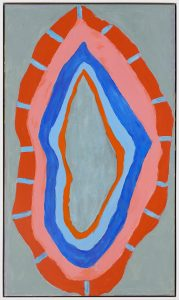 Flames (1967), acrylic on canvas, 69.5 by 40.63 inches