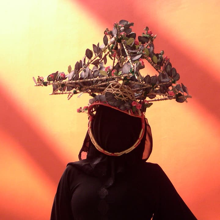 "And a ""Reed Hat."" All were displayed as photographs during a symposium on Islamic art in Cordoba, Spain, 2009"