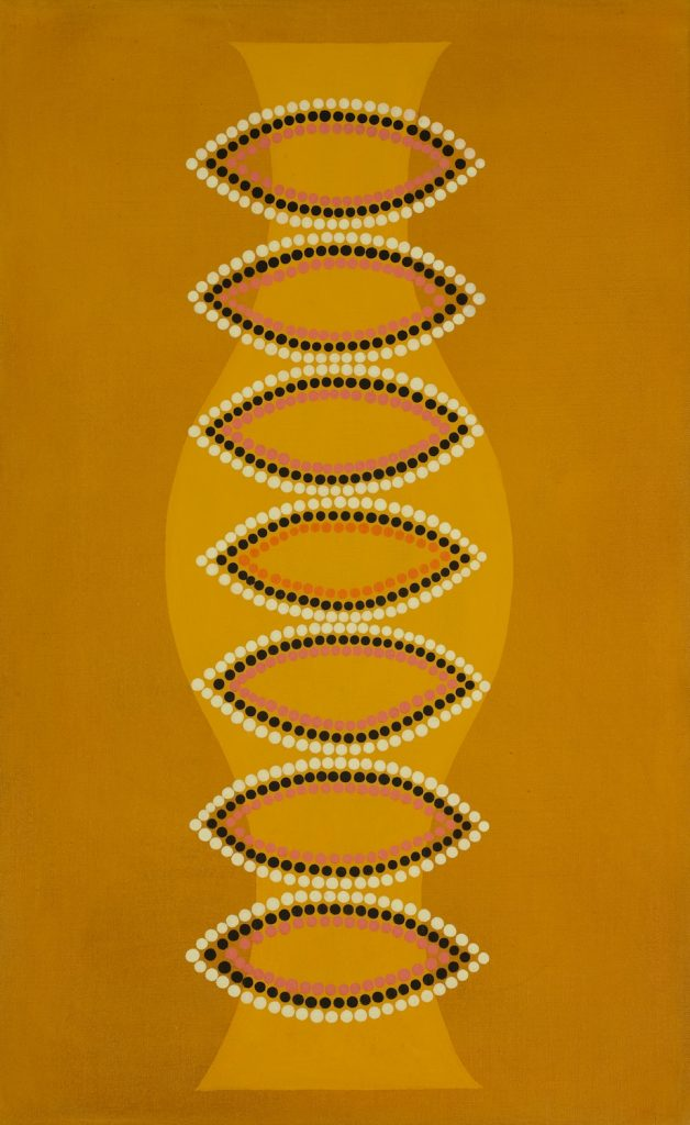 Chakras (2006), oil on linen, 26 by 16 inches