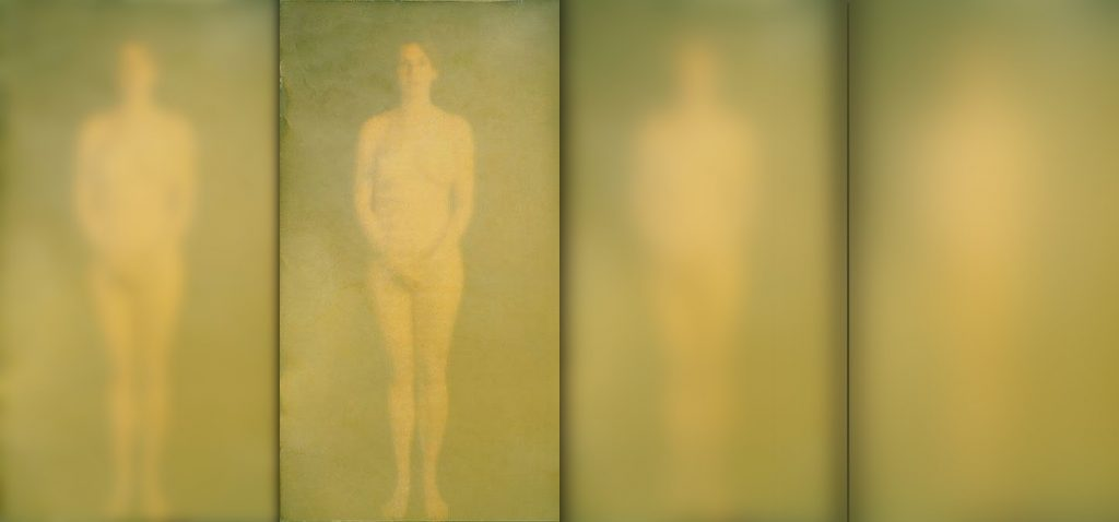 Four Jackies (1992), encaustic on wood, 84 by 176 inches (in the collection of the Denver Museum of Art)