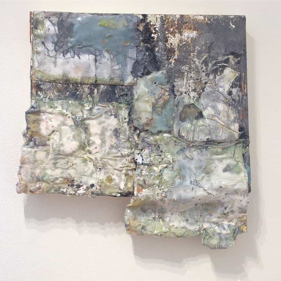 St. Francis in the Wilderness (2017), encaustic on wood and canvas, 31 by 26 inches