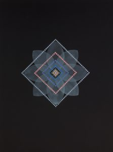 Geometry #39 (2017), watercolor on Somerset paper, 30 by 22 inches