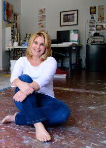 Brenda Zappitell in her Studio