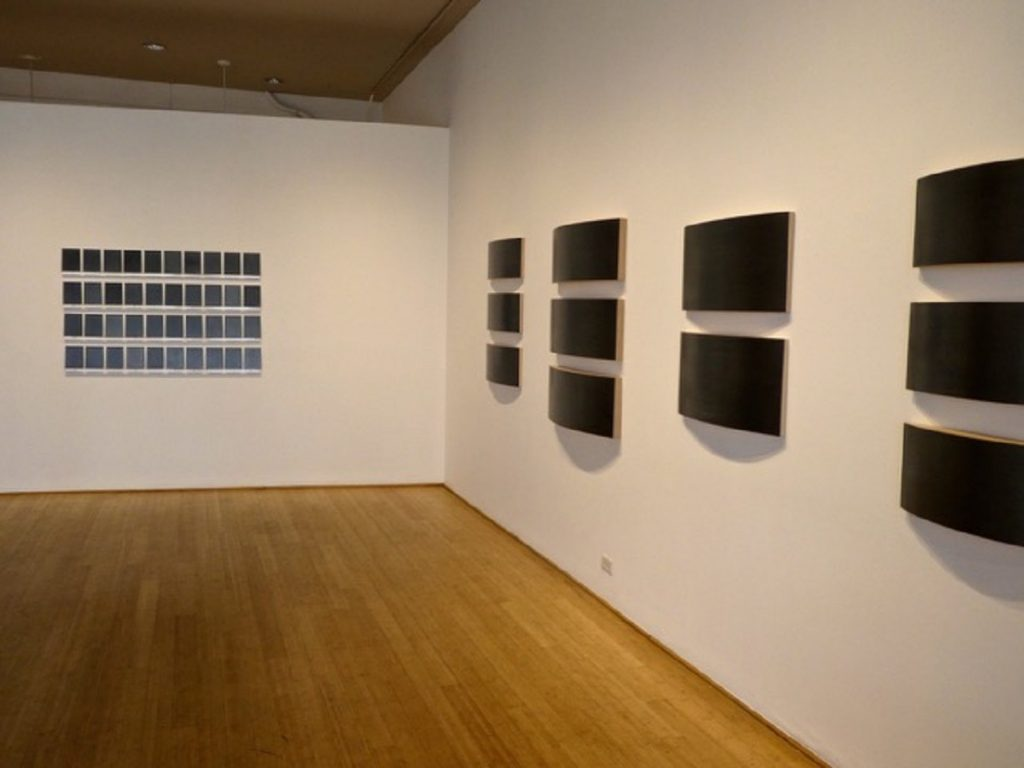 Marietta Leis, burnished graphite paintings at Warren Contemporary in Denver, CO, spring 2016