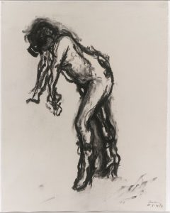 Amanda Leaving Over (1992), charcoal, 24 by 19 inches