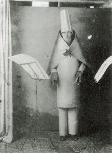 Dada maestro Hugo Ball at the Cabaret Voltaire (1916)