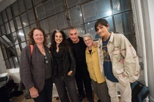 Michael David (center) with, from left, Elisa Jensen, Grace Roselli, Brenda Goodman, and Paul d'Agostino