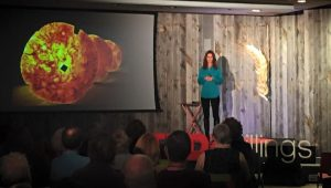 Tracy Linder gives a TEDx talk