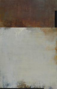 At the Still Point (2016), oil on Dibond, 36 by 23 inches
