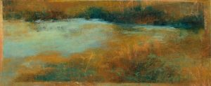 Landscape (2000), oil pastel on paper, 15 by 40 inches