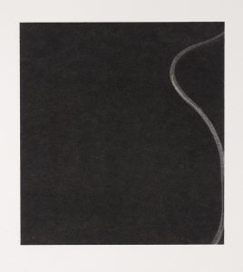 Tracing Stillness (2015), charcoal on museum board, 12 by 11 inches
