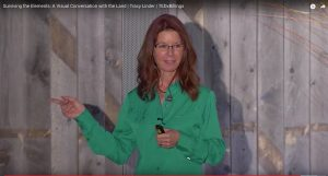Tracy Linder at her TedX talk in Billings, MT