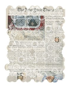 Donna Ruff, 2.25.16 (2016), cut newspaper, 16 by 11.5 inches