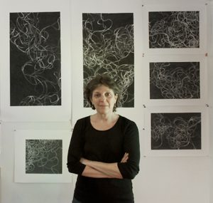 Tamar Zinn in her New York studio
