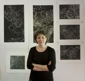 Tamar Zinn in her New York studio