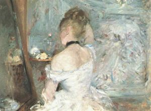 Berthe Morisot, Jeune Fille a sa toilette (1875-80), 23.7 by 31.6 inches