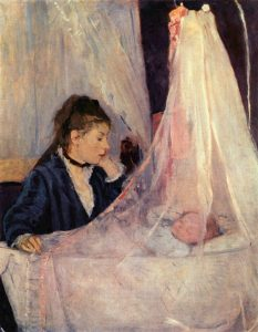 Berthe Morisot, The Cradle (1872), oil on canvas, 22 by 18 inches