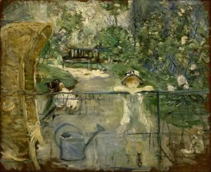 Berthe Morisot, The Basket Chair (1881), oil on canvas, 24 by 30 inches