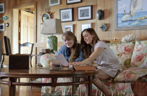 "Sissy Spacek and Linda Cardellini from ""Bloodline,"" with Vey on the wall"