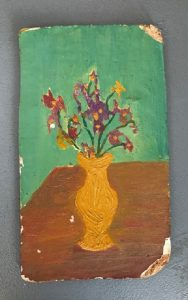 A very very early flower painting by the artist
